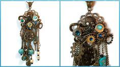 #Steampunk #Octopus  Necklace #Jules #Verne Inspired