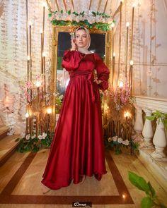 Beautiful Dress Designs, Beautiful Dresses, Modesty Fashion, Niqab Fashion, Red Bridesmaid Dresses, Prom Dresses, Hijab Fashion Summer, Hijab Dress, Chiffon Dress