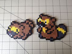 Pokemon Bead Sprite Set  Bidoof Family by ToughTurtles on Etsy, $5.50