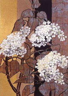 Robert Kushner (American, born via John Skrabalak Gravure Illustration, Japon Illustration, Abstract Flowers, Watercolor Flowers, Photocollage, Guache, Inspirational Artwork, Arte Floral, Leaf Art
