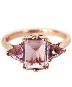 Anna Sheffield rose gold and amethyst Bea ring - Right Hand Ring