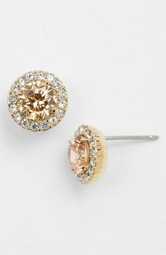 Nadri Champagne + Gold Earrings.