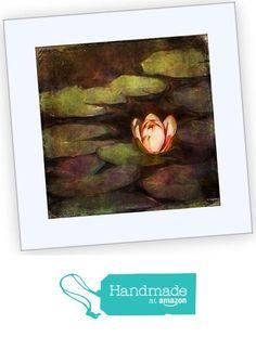 8x8 Textured Photograph Matted to 12x12, 'Water Lily Dream' by Karen Waters from Karen Waters Art http://www.amazon.com/dp/B016FQQ9RK/ref=hnd_sw_r_pi_dp_OQBjwb15FEAP5 #handmadeatamazon