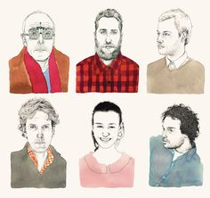 Lovely portrait illustrations by Adam Cruft.