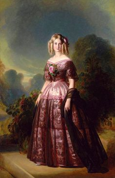 Princess Maria Carolina Augusta of Bourbon by Franz Xaver Winterhalter.