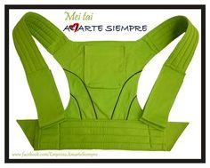 Mei tai Amarte Siempre. Color Verde Pistacho Ref: 004, confeccionado en Algodón, perfecto para todo tipo de climas y para niños desde los 5 meses hasta los 3 años de edad o 20 kilos de peso, Envíos a cualquier parte del país sin costo adicional.