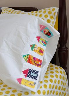 Just added to the my shop,  Take A Trip To SlumberTown Pair Of Appliqued Pillowcases $21