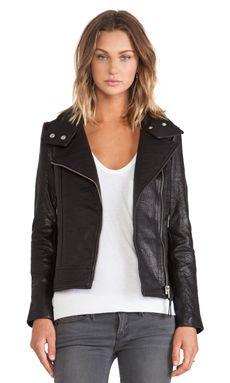 Mackage Lisa Leather Jacket in Black