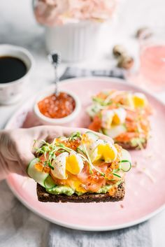 Nutritious, elegant and simple breakfast toast elevated to perfection.