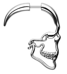 Skull Ray 316L Surgical Steel Fake Hanging Taper