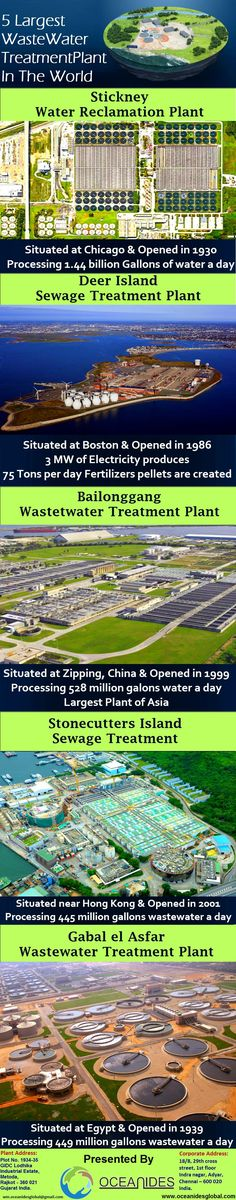 5 Largest Wastewater Treatment Plants All Over The World