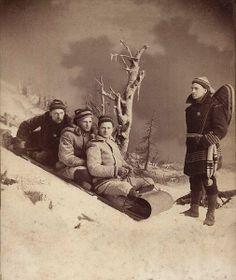 Faux Snow Portraits, 1800s