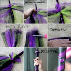 DIY Tulle Broom Halloween