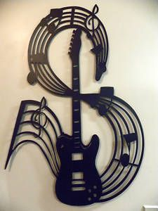 Metal Wall Art Decor Guitar With Notes Instruments, Metal Wall Art Decor, Wall Decor, Metal Artwork, Art Music, Music Flow, Music Guitar, Music Lovers, Metal Walls