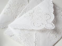SAMPLE- Vintage Lace Paper Doily Envelope- Perfect For Wedding Invitations & Wedding Stationary Doily Invitations, Handmade Wedding Invitations, Vintage Wedding Invitations, Wedding Stationary, Invitation Envelopes, Invites, Wedding Envelopes, Card Envelopes, Wedding Vintage