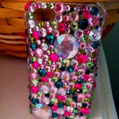 Jeweled iPhone case.