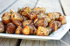 Let's Dish Recipes: ROSEMARY BALSAMIC ROASTED POTATOES