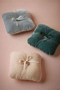 Gorgeous Ring pillows to style rings on: Velveteen Ring Pillow in Décor View All Décor at BHLDN