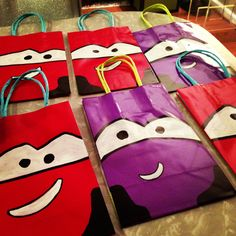 Cars party favor bags!