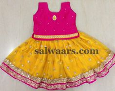 Sequins Work Mustard Short Lehenga - Indian Dresses