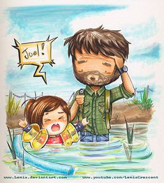 The Last of Us Joel and Ellie by Lemia.deviantart.com on @deviantART I really appreciate people making this adorable stuff to distract from the heartbreak.
