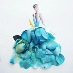 art flower dress - Google Search