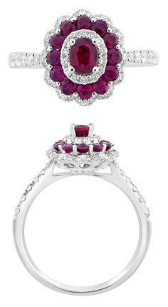 Halo Engagement Rings, Vintage, Jewelry, Jewlery, Jewerly, Halo Setting Engagement Rings, Schmuck, Jewels, Vintage Comics