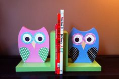 Sale 4999 reg 5999 Wooden Owl Bookends by TheWoodenOwl on Etsy, $49.99