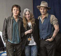 Paul McCartney, Patti Smith and Johnny Depp - creative and talented!  2014