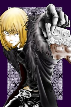 """Mello from """"Death Note.""""  Action chocolate!"""