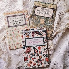 the importance of being earnest // oscar wilde selected poems // emily dickinson persuasion // jane austen Tea And Books, I Love Books, Good Books, Books To Read, Classic Literature, Book Aesthetic, Book Of Life, Book Photography, Book Cover Design
