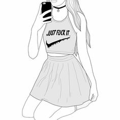 hab´´ s gezeichnet Best Picture For drawing sketches portraits For Your Taste You are looking for so Tumblr Girl Drawing, Girl Drawing Sketches, Cute Girl Drawing, Cartoon Girl Drawing, Girl Sketch, Girl Cartoon, Teenage Drawings, Tumblr Drawings, Girly Drawings