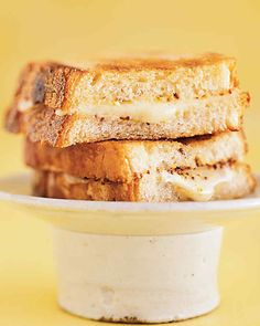 We used cheddar cheese in these sandwiches, but any type of cheese that oozes when it melts, such as Swiss, will produce just as delicious a sandwich.