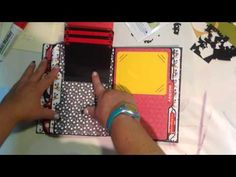▶ Disney file folder album - YouTube.  After she shows the mini, she quickly shows how she made the file pages.