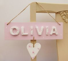 Personalised Heart Name Sign