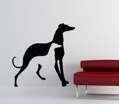 GREYHOUND SILLOUETTE - WALL ART VINYL GRAPHICS - 3 SIZES - WALL ...