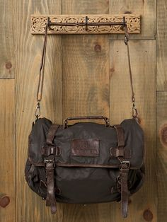 Washed Leather Canvas Messenger Bag at Free People Clothing Boutique