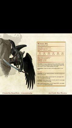Winged Ape d&d Homebrewed e5
