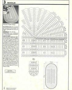 Weaving Arts in Crochet: Table Runner Crochet Stitches Chart, Crochet Doily Diagram, Crochet Doilies, Crochet Patterns, Crochet Hats, Mesa Oval, Weaving Art, Table Toppers, Free Pattern
