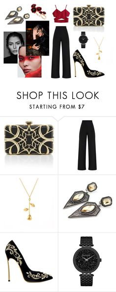"""""""Black Widow"""" by breathliveact ❤ liked on Polyvore featuring Elie Saab, Gabriella, Caravelle by Bulova and Futuro Remoto"""