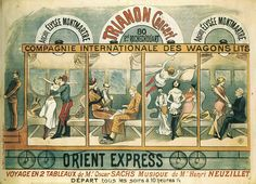 This poster depicts what people suspected  went on in the Orient Express in the Victorian era.