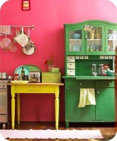 moveis coloridos cozinha - Pesquisa Google