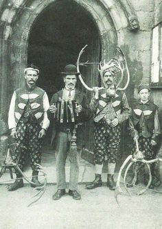 The famous Horn dancers of Abbot's Bromley