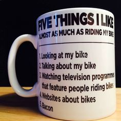 Post with 3772 votes and 15201 views. Shared by Lofipenguin. This years present from an understanding wife Bike Websites, Always Thinking Of You, Television Program, Picture Design, Talk To Me, Inspirational Quotes, Mugs, Cycling, 5 Things