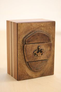 shield puzzle box by bcgivingtree on Etsy, $125.00