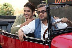 Mumbai: Actor Sushant Singh Rajput and filmmaker Dibakar Banerjee during the 2nd trailer launch of film Detective Byomkesh Bakshy! in Mumbai