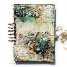 Finnabair art journal cover, love the texture and colors