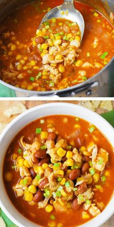 White Chicken Chili with Pinto Beans and Chickpeas Recipe Using Pinto Beans, Pinto Bean Recipes, Recipes With Pinto Beans And Chicken, Chicken Recipes, Chicken Meals, Best White Chicken Chili Recipe, Chili Recipe With Corn, Best Chili Recipe, Corn Recipes