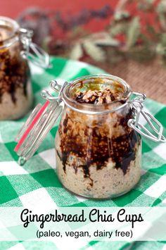 Vegan Gingerbread Chia Pudding | Plaid and Paleo