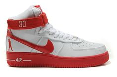 huge selection of 5f051 c13e0 Nike Air Force 1 High Rasheed Wallace Sheed Patent White Red!64.50USD